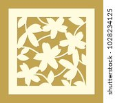 flower ornament. laser cut... | Shutterstock .eps vector #1028234125