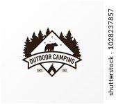 camping logo design | Shutterstock .eps vector #1028237857