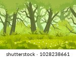 forest glade vector... | Shutterstock .eps vector #1028238661