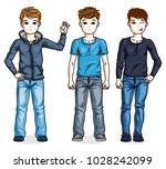 different young teen boys cute... | Shutterstock .eps vector #1028242099