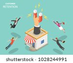customer retention flat... | Shutterstock .eps vector #1028244991