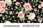 seamless pattern with spring... | Shutterstock . vector #1028245765