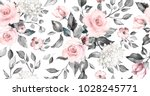seamless pattern with spring... | Shutterstock . vector #1028245771