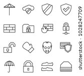 flat vector icon set   umbrella ... | Shutterstock .eps vector #1028247709