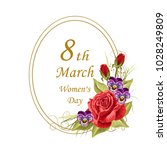 8 march lettering greeting card ...   Shutterstock .eps vector #1028249809