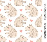 seamless pattern with cute... | Shutterstock .eps vector #1028250211