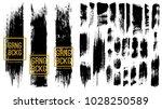 set of black ink vector stains  | Shutterstock .eps vector #1028250589
