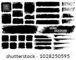 set of black ink vector stains  | Shutterstock .eps vector #1028250595