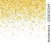 yellow  golden and gold circles ... | Shutterstock .eps vector #1028252269