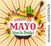 cinco de mayo mexican holiday... | Shutterstock .eps vector #1028255629