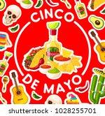 cinco de mayo holiday poster... | Shutterstock .eps vector #1028255701