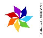7 chakra color icon symbol logo ... | Shutterstock .eps vector #1028256721