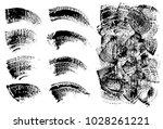 set of black ink vector stains | Shutterstock .eps vector #1028261221
