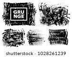 set of black ink vector stains | Shutterstock .eps vector #1028261239