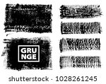 set of black ink vector stains | Shutterstock .eps vector #1028261245