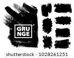 set of black ink vector stains | Shutterstock .eps vector #1028261251