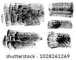 set of black ink vector stains | Shutterstock .eps vector #1028261269
