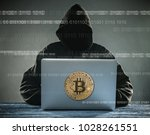 bitcoin gold coin and anonymous ... | Shutterstock . vector #1028261551