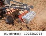 close up of a disc harrow... | Shutterstock . vector #1028262715
