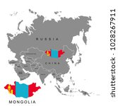 territory of mongolia on asia... | Shutterstock .eps vector #1028267911