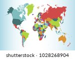political world map | Shutterstock .eps vector #1028268904