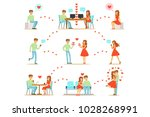 man and woman finding love and... | Shutterstock .eps vector #1028268991