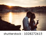 two young people enjoying a... | Shutterstock . vector #1028272615