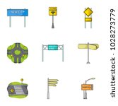 road junctions and signs and... | Shutterstock . vector #1028273779