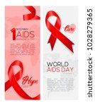 a set of aids awareness banners ... | Shutterstock .eps vector #1028279365