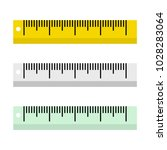 vector illustration of rulers... | Shutterstock .eps vector #1028283064