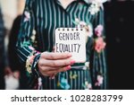closeup of a young woman... | Shutterstock . vector #1028283799