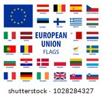 european union flags eu... | Shutterstock .eps vector #1028284327