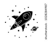 spacecraft icon   flat icon | Shutterstock .eps vector #1028284987