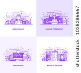 modern flat purple color line... | Shutterstock .eps vector #1028286667