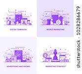 modern flat purple color line... | Shutterstock .eps vector #1028286679