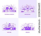 modern flat purple color line... | Shutterstock .eps vector #1028286685