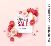 spring sale background with... | Shutterstock .eps vector #1028288314