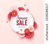 spring sale background with... | Shutterstock .eps vector #1028288317
