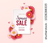 spring sale background with... | Shutterstock .eps vector #1028288335