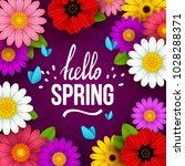 colorful spring background with ... | Shutterstock .eps vector #1028288371