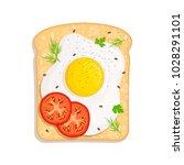 vector sandwich with fried egg... | Shutterstock .eps vector #1028291101