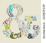 ampersand full of ampersands | Shutterstock .eps vector #102829139