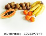 fresh fruits and vegetable... | Shutterstock . vector #1028297944