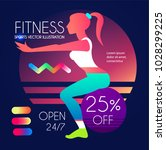 woman fitness. workout girl.... | Shutterstock .eps vector #1028299225
