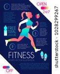 woman fitness. workout girl.... | Shutterstock .eps vector #1028299267
