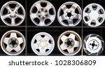 alloy wheels. old alloy wheels... | Shutterstock . vector #1028306809