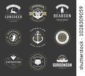 camping logos templates vector... | Shutterstock .eps vector #1028309059