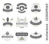 camping logos templates vector... | Shutterstock .eps vector #1028309065