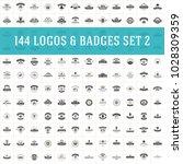 vintage logos design templates... | Shutterstock .eps vector #1028309359