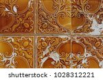orange traditional portuguese... | Shutterstock . vector #1028312221